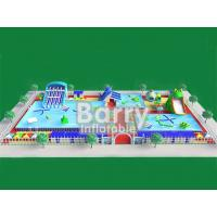 China Commercial inflatable water park equipment , metal frame inflatable amusement park on sale