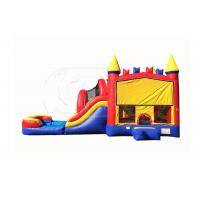 Wholesale Fun Giant Inflatable Outdoor Games Inflatable Bouncers With Slide Double Stitching from china suppliers