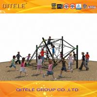 China Childrens Out Door Play Equipment Ropes With Black Galvanized Post , Star Shape on sale