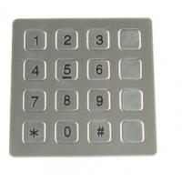 Wholesale Vandal Resistant Phone Keyboard , Stainless Steel Keypad With 16 Keys from china suppliers