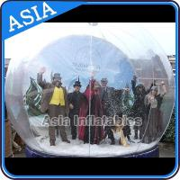 China Airblown Yard Inflatable Bubble Tent Decoration , Inflatable Christmas Snow Globe on sale