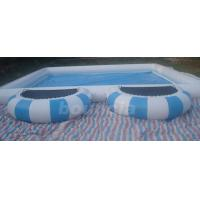 Wholesale 0.9mm  PVC Tarpaulin Round Outdoor Inflatable Swimming Pool With Platform from china suppliers