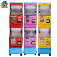 Wholesale Double Layer Gumball Vending Machine With Coin Operated 1-6 Coins from china suppliers