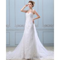 Quality Lace Flower Strapless sweetheart neckline Wedding Gowns with open back for sale