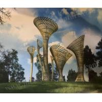 Buy cheap Large Park Decorative Outdoor Metal Art Sculpture With Abstract Hollow Modern from wholesalers