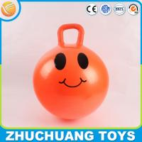 Wholesale pvc play emoji balls bungee with handle from china suppliers