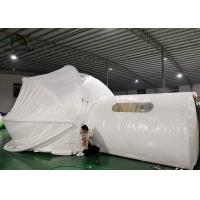 Wholesale Semi Clear Inflatable bubble hotel Tent with curtain for hotel building from china suppliers