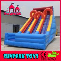 China SL-1986 Popular OutDoor Triple Lane Slip Large Inflatable Slide on sale