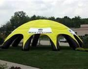 Wholesale Orange Outdoor Inflatable Water Pool IP38 with Tent Cover and Trampoline  from china suppliers