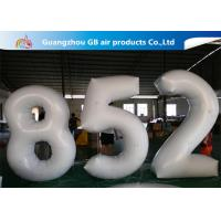 European Standard White PVC Inflatable Advertising Number Display Figure Balloon