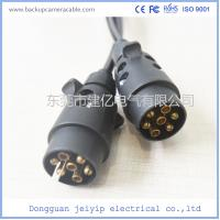 Wholesale High Quality Black 7 Pin Spiral Cable Extension Trailer electric coil Cable from china suppliers