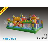 Wholesale 0.55mm PLATO Colorful PVC Tarpaulin Child Inflatable Fun City YHFC 001 for Backyard Party from china suppliers