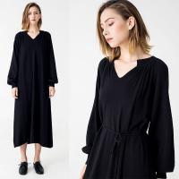 Wholesale Autumn Women Clothing Black Midi Knit Dress from china suppliers