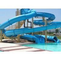 Wholesale Indoor / Outdoor Fiberglass Long Spiral Water Slides For Kids / Family Holiday Resort from china suppliers