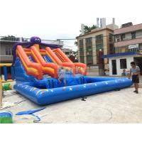 Wholesale Large Octopus Inflatable Water Park , Inflatable Pool Slide On Land Park from china suppliers