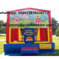 Buy cheap Hot Sale Removable Theme Kids Jumper Playground Inflatable Spongebob Jumping from wholesalers