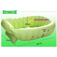 Wholesale Green Inflatable Swimming Pools PVC , Air Bathtub For Baby Bathing from china suppliers