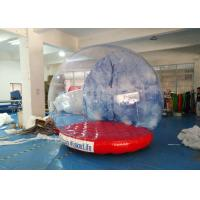 Quality Shopping Mall Life Size Snow Globe 0.8mm Clear PVC Material For Live Show for sale