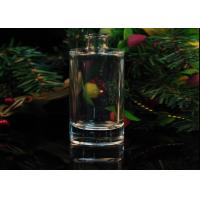 Ellipse Cylinder Empty Clear Aroma Fragrance Glass Diffuser Bottle
