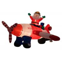 Wholesale Inflatable Christmas Santa Claus Flying Airplane / Air Blown Inflatable Old Man from china suppliers