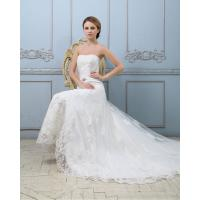 Wholesale Slim Luxury Lace Strapless Wedding Gowns Heart shaped Sexy wedding dresses from china suppliers