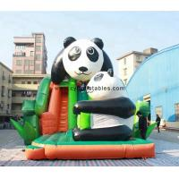 Wholesale 0.55 PVC Inflatable Dry Slide / 5×8 Meter Panda Commercial Inflatable Slide from china suppliers