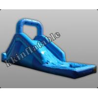 Wholesale 0.9mm Pvc Children Outdoor Toys Inflatable Slide With Swimming Pool from china suppliers