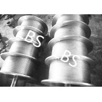 China High Performance Steel Wire Rope Drum , Fully Machined Lebus Grooved Drum on sale