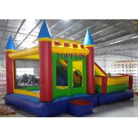 Wholesale Outdoor Amusement Park 6 x 5 m PVC Tarpaulin Inflatable Bouncy Castle With Slide from china suppliers