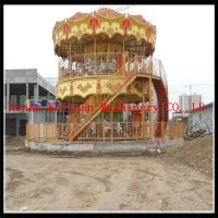 Popular and hot sale double layer musical carousel for sale