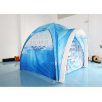 Wholesale Blue Airtight Inflatable Spider Tent / Air Arch Dome Tent For Exhibition Trade Show from china suppliers
