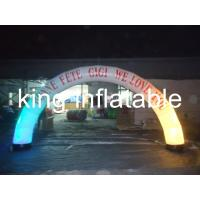 China Digital printing Led light with Oxford fabric material  inflatable advertising arch for promotion on sale