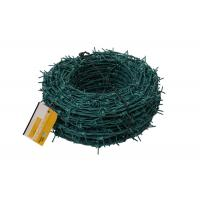 Wholesale Green PVC Coated Barbed Wire Fence from china suppliers