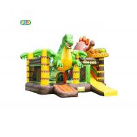Wholesale Dinosaur Pattern Inflatable Bounce House Combo Soft High Performance from china suppliers