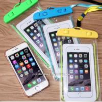 Wholesale IPX8  Underwater Phone Dry Bag Pouch Waterproof Phone Pouch with Fluorescent Frame for Outdoor Water  Activities from china suppliers