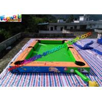 China Double Stitch Inflatable Games Rentals Pool Ball Snooker Field With Full Printing on sale