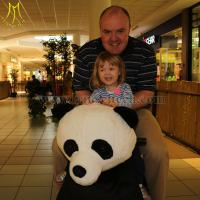 Wholesale Hansel children electrical animal ride for mall plush animal electric with coin operated from china suppliers