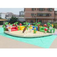 China 10x10m sea beach fun kids N adults giant inflatable amusement park with big chairs on sale
