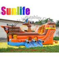 Wholesale inflatable small digital printing 0.55mm pvc tarpaulin pirate slide from china suppliers