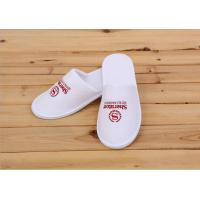 Wholesale Logo Printed White Color Disposable Hotel Slippers For Womens / Mens / Kids from china suppliers