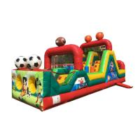 Wholesale Small Football Obstacle Speed Racer Bounce House For Kids Customized Color from china suppliers