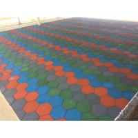 Wholesale Anti Skid Outdoor Rubber Mats , Shock Absorption 15-60mm Rubber Play Tiles from china suppliers