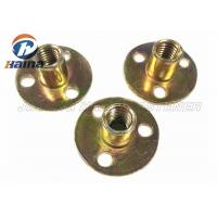 Wholesale Zinc plated Round Base T Nut With Three Brad Hole , Tee Nuts Or Furniture Nut from china suppliers