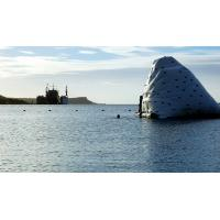 China Amazing Iceberg Floating Climbing Wall Blow Up Water Toys With PVC Tarpaulin on sale