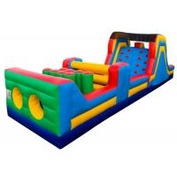 Wholesale 5 In 1 Obstacle Course Bounce House Seam Reinforced Water - Proof High Tensile Strength from china suppliers