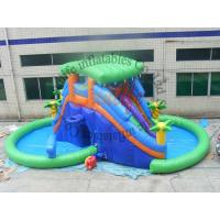 China OEM Big Funny Outdoor Inflatable Pool Water Slide With CE / UL Blower on sale