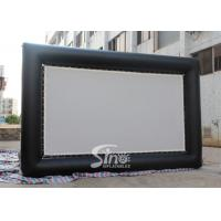 Wholesale Custom made giant advertising inflatable movie screen with back frame for outdoor use from china suppliers
