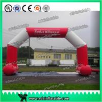 Wholesale White And Red 6 x 3M Inflatable Arch , Inflatable PVC Advertising Hotel Arch from china suppliers