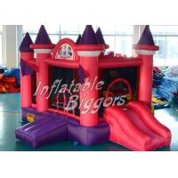 Wholesale Double Stitch Purple Inflatable Bounce House Princess , Brazil PVC Bouncy House Castle from china suppliers