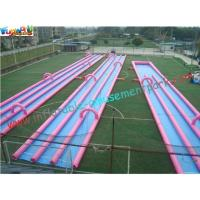 Quality 400m Three Lane Splash Outdoor Inflatable Water Slides  for Crazy Custom for sale